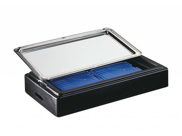 APS FSE Koelplaat Set | 'TOP FRESH' | 4 delig | Zwarte Stapelbare Box | GN 1/1 530x325 mm