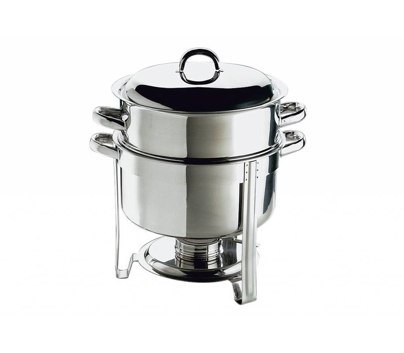 APS FSE Chafing Dish Set / Soep Pot | RVS | 13,5 Liter | Rond 33x(H)35cm
