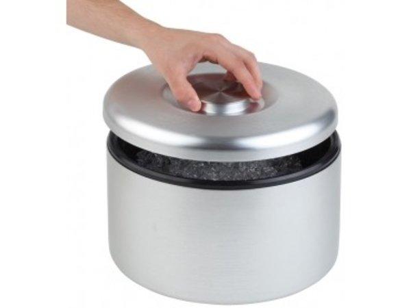 APS FSE IJsbox Maxi | Aluminium, mat Gepolijst | Met Drip Rooster | Ø27x(H)20cm