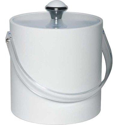 APS FSE IJsemmer Rond Wit | Kunststof Handvat | 1.5 Liter | Ø15x(H)15cm