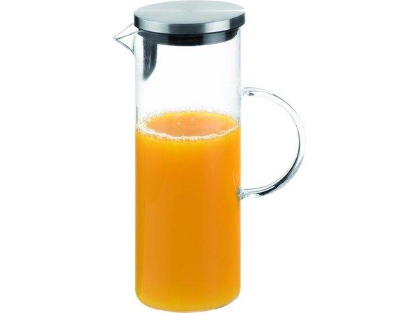 APS FSE Glazen Karaf | 1,5 Liter | RVS dop | Ø9,5x(H)27cm