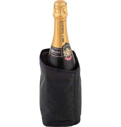 APS FSE Koelkraag Zwart voor Champagnefles - Scheurvast en eenvoudig in te vriezen - Ø11cm x 18(h)cm
