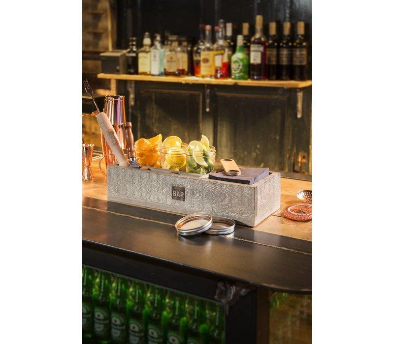 Bar Professional Barbox | Hout | Verschillende compartimenten