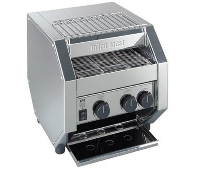 MilanToast RVS Conveyor Toaster   Verstelbare Transportband   1700Watt    410x340x(H)410mm