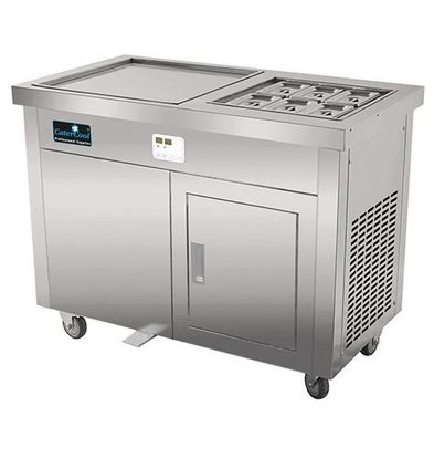 CaterCool IJsteppanyaki RVS met Garneerunit 6x GN1/9 | Digitaal | 230V/3600W |  1160x640x960(h)mm