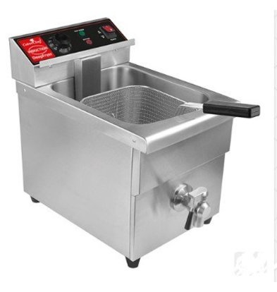 Caterchef Induction Fryer With Drain Valve | 8 liters 3.5 kW | 280x410x (H) 300mm
