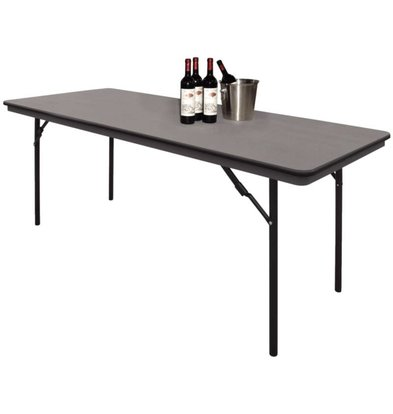 Bolero Table with Collapsible Steel Frame - Strong Plastic - 75 (h) x180 (b) cm