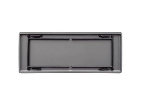 Bolero Tafel met Inklapbaar Stalen Frame - Sterk Kunststof - 75(h)x180(b)cm