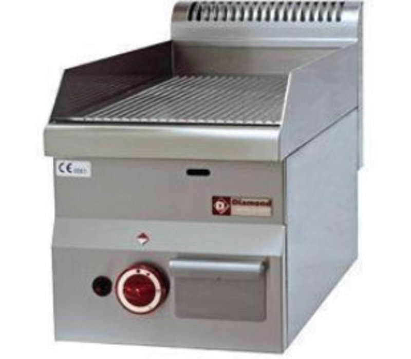 Diamond Bakplaat Pro 600 | Gas | Geribd | 300x600x(H)280