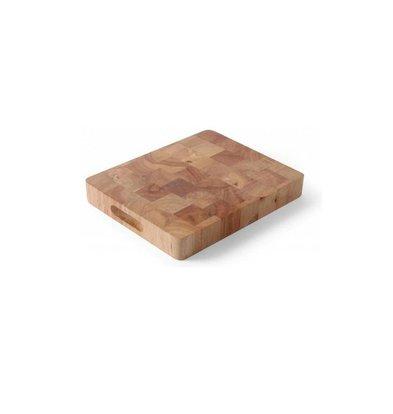 Hendi Schneiden GN 1/1 - Gummi Holz - 530x325x (h) 45 mm - XXL Schneidebrett