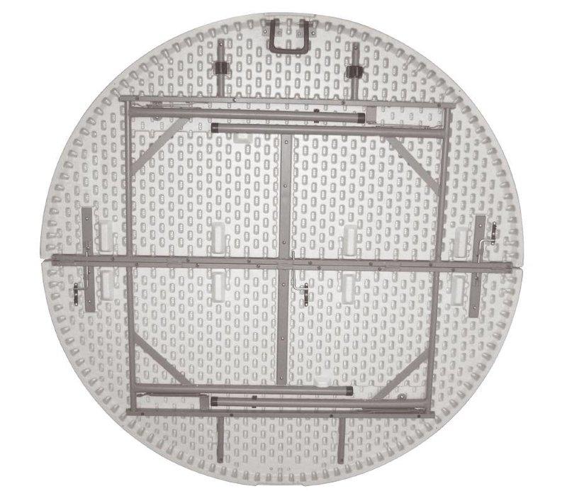 Bolero Inklapbare Ronde Buffettafel - Volledig Inklapbaar tot Koffer - 76(h)cm - 153cm ø