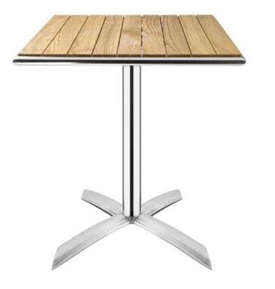 Bolero Bistrotafel Opklapbaar Vierkant | Aluminium/Essenhout | 600x600x730(h)mm