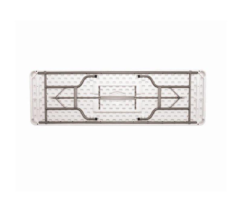 Bolero XXL Tafel met Inklapbaar Stalen Onderstel - Tafelblad ook Inklapbaar - 74(h)x244(b)cm