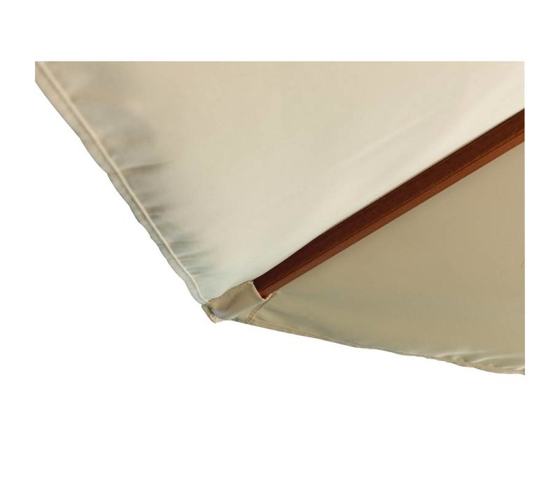 Bolero Parasol Rond met Katrolmechanisme - Kleur Ecru - 2,5 meter Ø