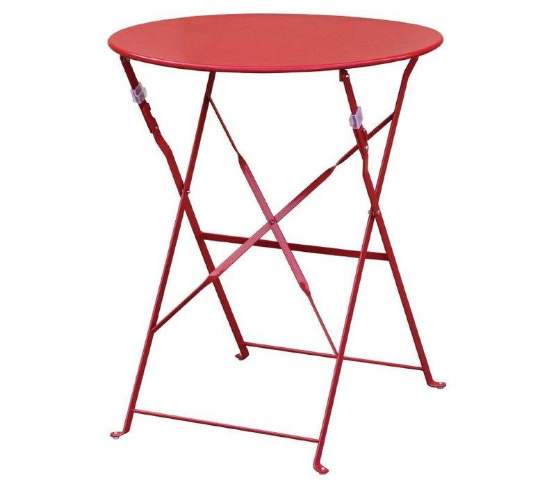 Bolero Stalen Opklapbare Tafel - Beschikbaar in de kleur Zwart, Rood en Grijs