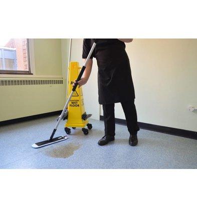 SYR Veiligheidsbord met Moppen Set | Op Wielen | 6 Delig