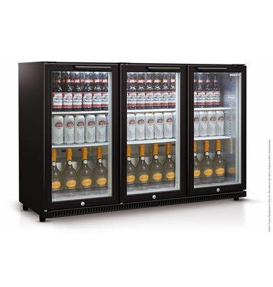 Husky Barkoelkast 3 Deurs Zwart | 301 Liter | LED Verlichting | 1350x520x865(h)mm