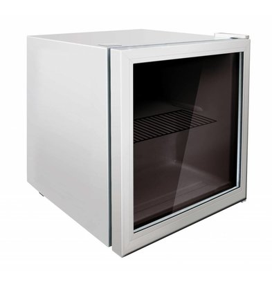 Exquisit Display Fridge White | Compact Model | 50 liters | 430x460x510 (h) mm
