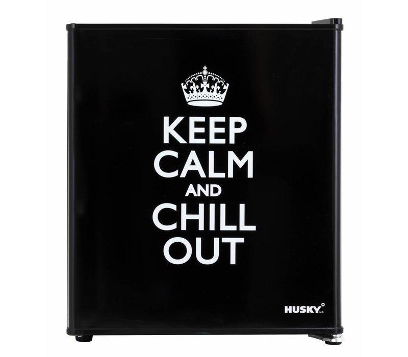 "Husky Mini Koelkast ""Keep Calm"" | 43 Liter | 430x460x510(h)mm"