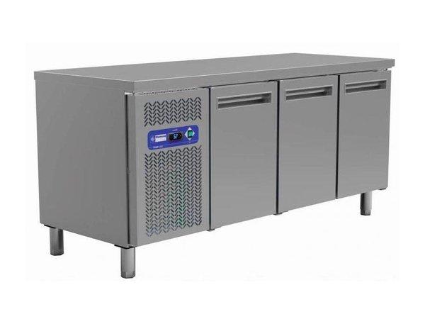 Diamond Coole Workbench - RVS - 3 Türen - 200x60x (h) 88cm - 395 Liter