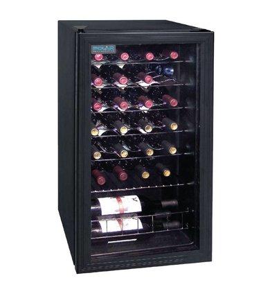 Polar Flaschen Kühlschrank / Wein Kühlschrank - 28 Flaschen - 88 Liter - 430x480x (H) 830mm