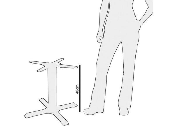Bolero Tafelpoot Gietijzer - Universeel - Laag 48cm - voor tafelbladen tot 800mm Ø of (B)
