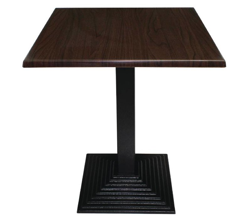Bolero Tafelpoot Gietijzer - Vierkant - Laag 48cm - voor tafelbladen tot 800mm Ø of (B)