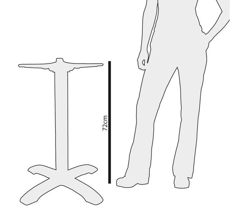Bolero Tafelpoot Chroom - Vierkant - Hoog 72cm - voor tafelbladen tot 800mm Ø of (B)
