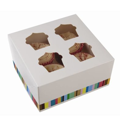 XXLselect Cupcake Dozen | XL | 4 Stuks | 150x150x(h)75mm