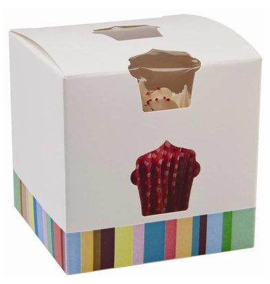 XXLselect Cupcake Boxes | just | 10 pcs | 80x80x (h) 80mm