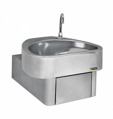 Sofinor RVS Handwasbak | Kniebediening | Clinium | Ziekenhuis Model | 460x436x(H)270mm