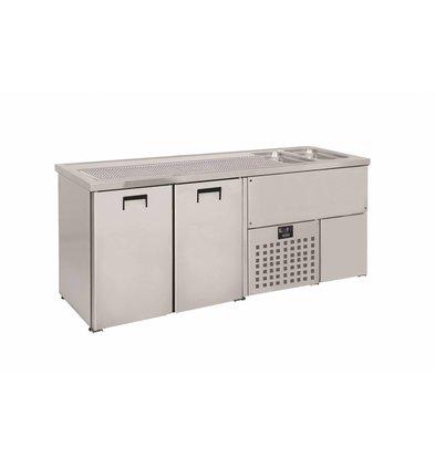 Combisteel Beer cooler 2 Doors | Double Sink (300x500mm) Right 1950x700x (H) 960mm