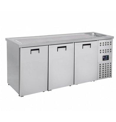Combisteel Beer cooler 3 Doors | Sink (300x500mm) Right 2100x700x (H) 960mm