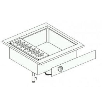 Combisteel Elektrische Pastakoker | Drop In | 28 Liter | 9 kW | 600x600x(H)331mm