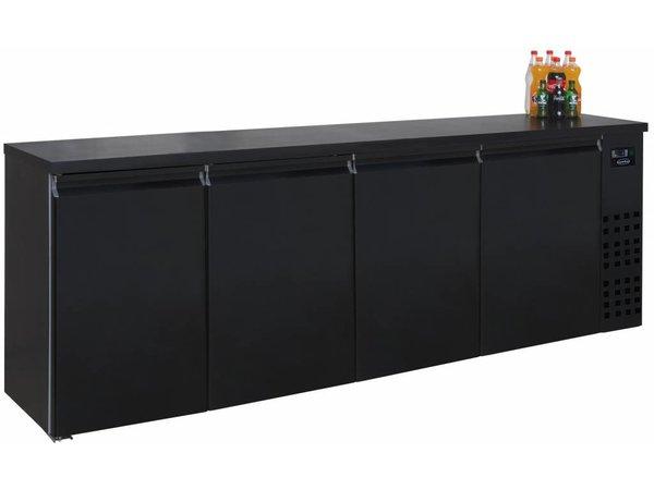 Combisteel Barkoelkast Zwart   4 Blinde Deuren   680 Liter   2490x550x(H)950mm