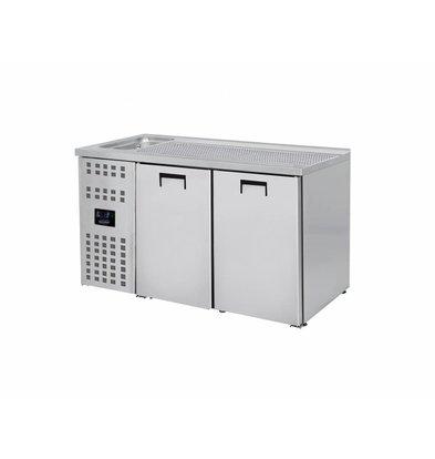Combisteel Beer cooler 2 Doors | Sink (300x500mm) Left | 1550x700x (H) 960mm