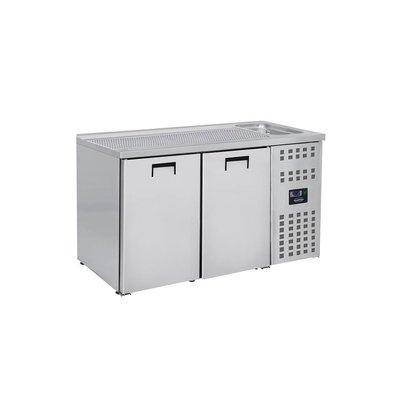 Combisteel Beer cooler 2 Doors | Sink (300x500mm) Right 1550x700x (H) 960mm