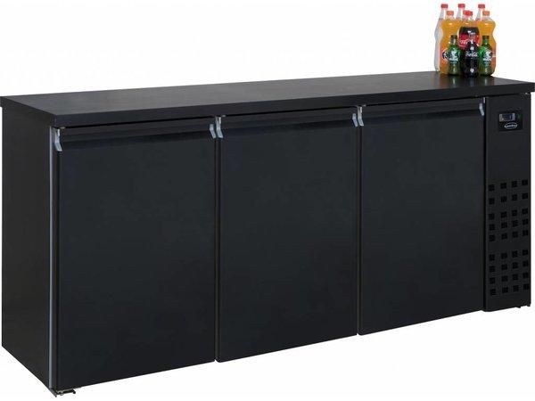 Combisteel Barkoelkast Zwart | 3 Blinde Deuren | 500 Liter | 1940x550x(H)950mm