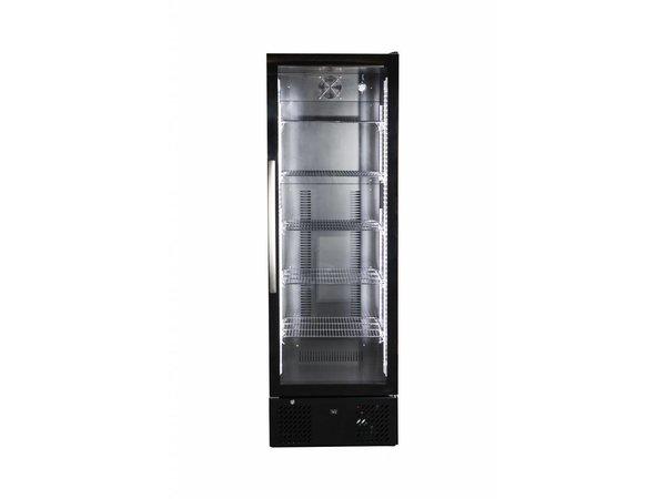 Combisteel Barkoeler Zwart | Hoog Model | Glazen Deur | 293 Liter | 600x515x(H)1820mm