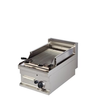 Combisteel Base 700 Lavastone grill Ribbed | Gas | 7 kW | 400x700x (H) 290mm