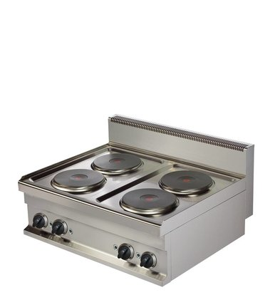 Combisteel Base 700 Electric cooker 4 Plates | 4x 2.6 kW | 800x700x (H) 290mm