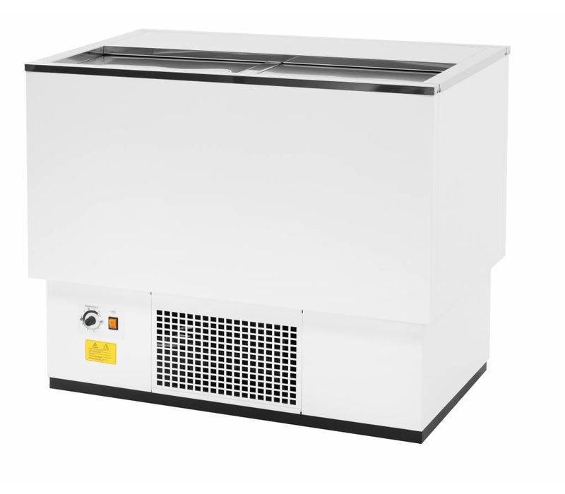 Combisteel Koelkist Wit | RVS Deksel | 137 Liter | 1010x545x(H)840mm | XXL AANBIEDING