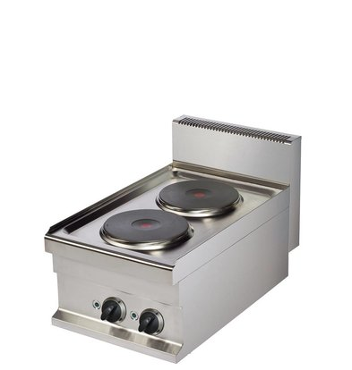 Combisteel Base 700 Electric cooker 2 Plates | 2x 2.6 kW | 400x700x (H) 290mm