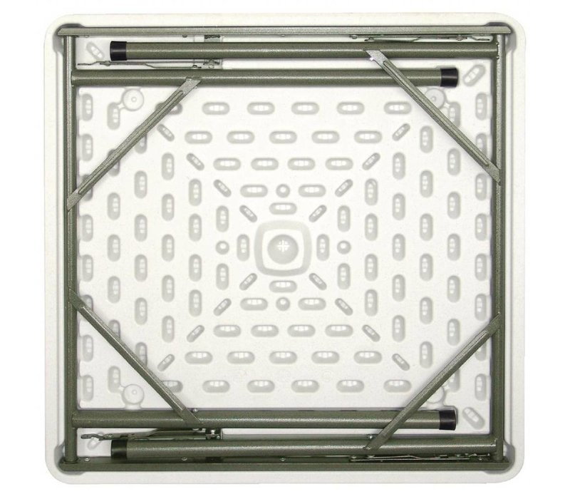 Bolero Vierkante Tafel met Inklapbare Poten - Terrastafel - 74(h)x86x86cm