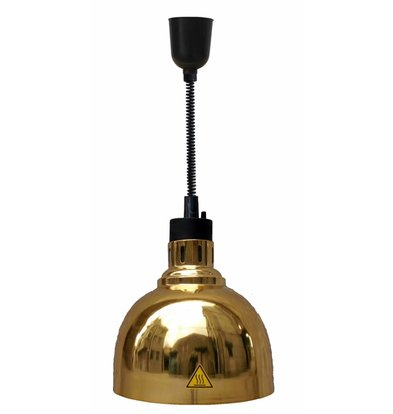 Combisteel Warmth lamp Gold | Adjustable Cord | Ø240x (H) 600 / 1800mm