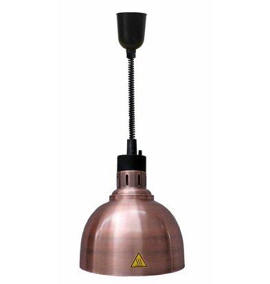 Combisteel Warmhoudlamp Brons | Verstelbaar Snoer | Ø240x(H)600/1800mm