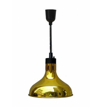 Combisteel Warmhoudlamp Goud | Verstelbaar Snoer | Ø290x(H)600/1800mm