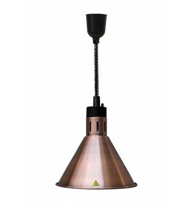 Combisteel Warmhoudlamp Brons | Verstelbaar Snoer | Ø275x(H)600/1800mm