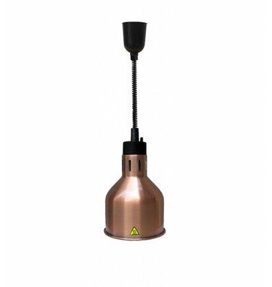 Combisteel Warmhoudlamp Brons | Verstelbaar Snoer | Ø175x(H)600/1800mm