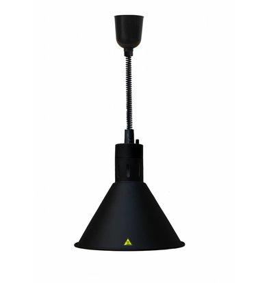 Combisteel Warmhoudlamp Zwart | Verstelbaar Snoer | Ø275x(H)600/1800mm